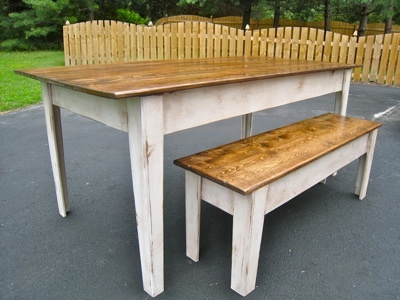 Ana White Modern Farmhouse Kitchen Table Bench Diy Projects