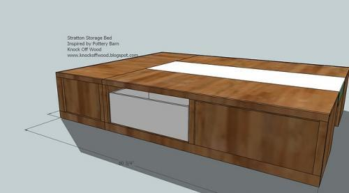 the drawer in push the drawer all the way in the bed so there is a 3