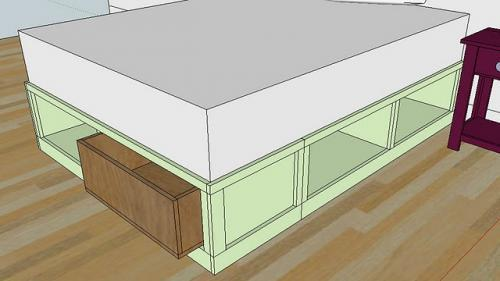 How to build queen bed frame with drawers plans plans woodworking 300 woodworking plans - Drawer bed frame plans ...