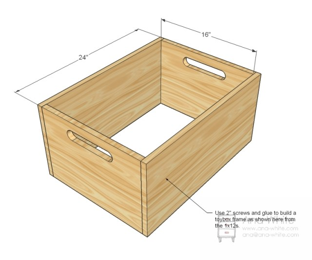 box as with most storage that we do start by build a simple box out of
