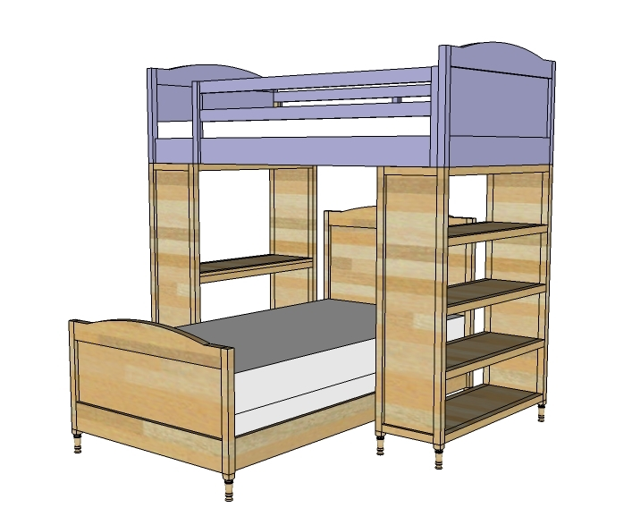 bunk bed kits plans