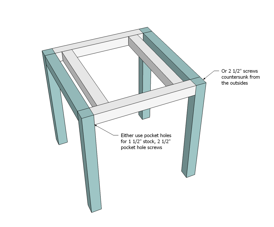 Easy Build Coffee Table