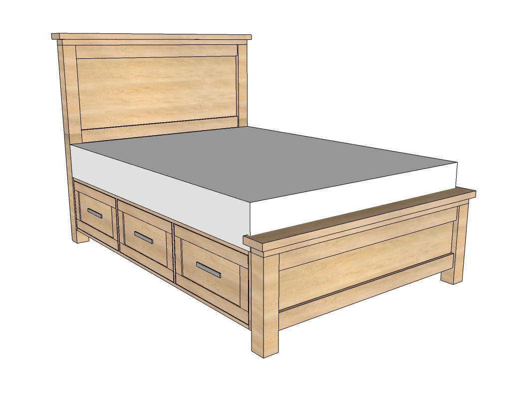 woodworking plans storage bed