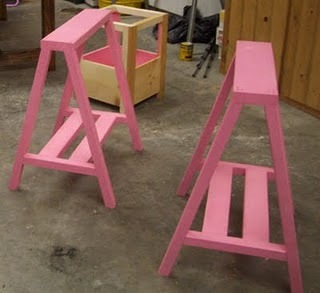 simple sawhorse table ana white