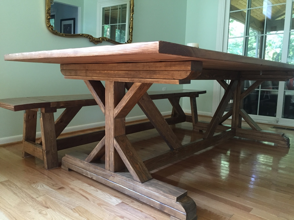Fancy X Farmhouse Table With Modifications