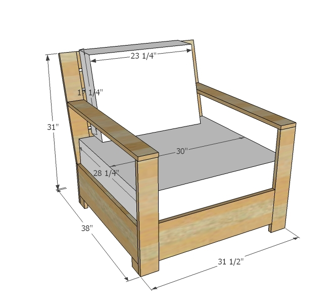 Outdoor Lounge Chair Plans Woodworking Edge