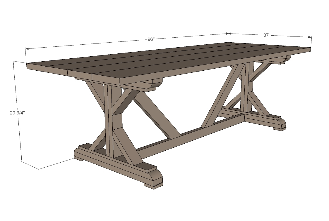 Fancy X Farmhouse Table - DIY Projects