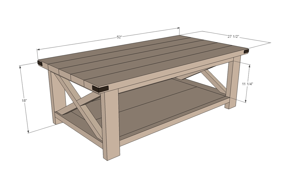 coffee table dimensions