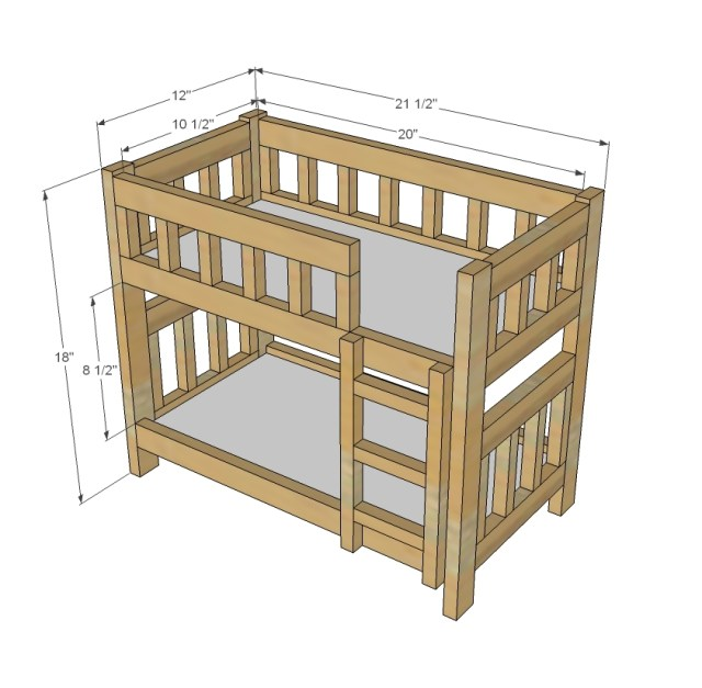 | Build a Camp Style Bunk Beds for American Girl or 18 Dolls | Free ...