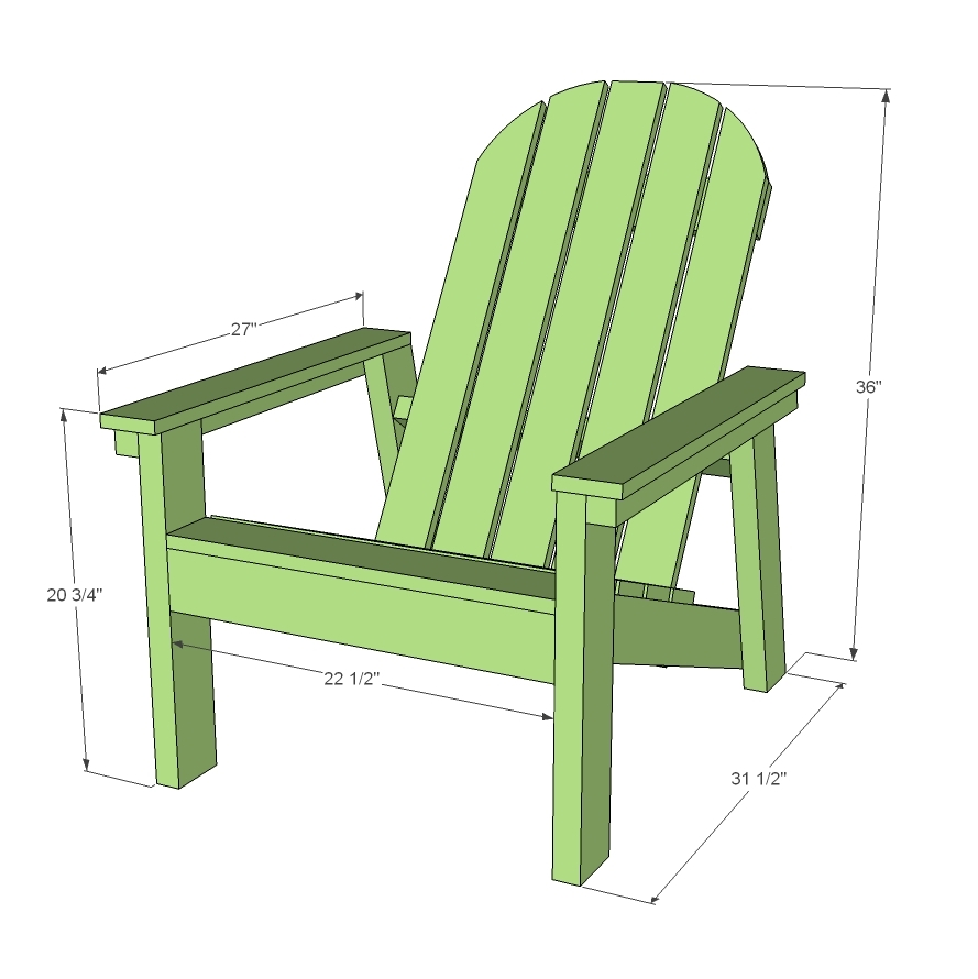 build diy adirondack chair plans ana white pdf plans