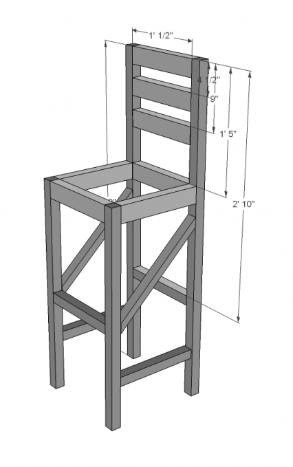 build a bar stool