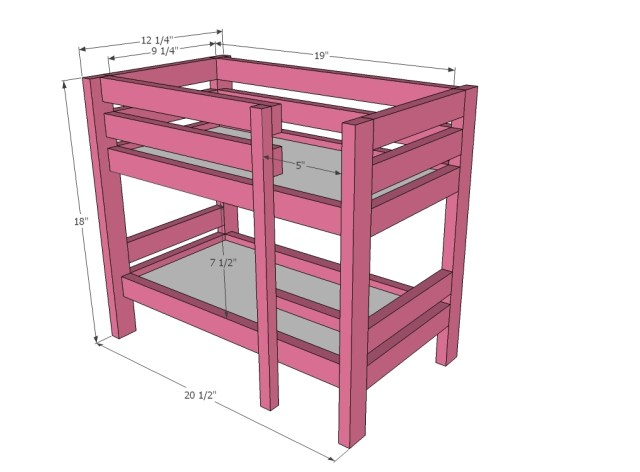 "Doll Bunk Beds for American Girl Doll and 18"" Doll"