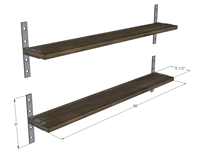 Industrial Chic Reclaimed Wood Shelves