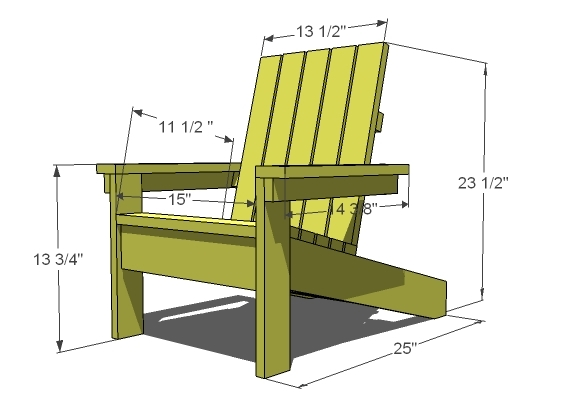 diy adirondack chair pattern