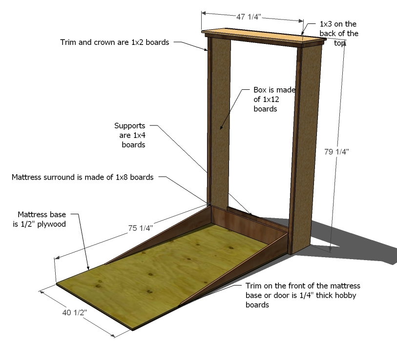 Pdf plans murphy bed free plans do yourself download for Do it yourself blueprints