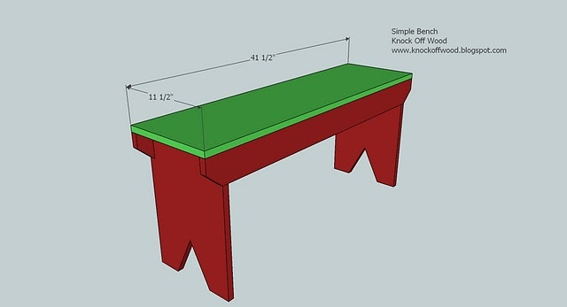 5 board bench design