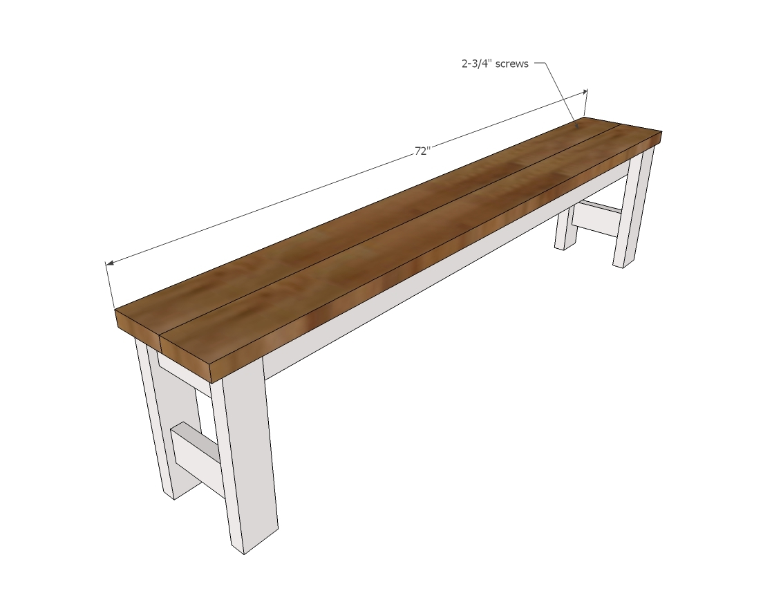 Beginner Farm Table Benches 2 Tools 20 In Lumber Ana White