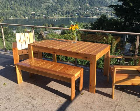 simple outdoor dining table ana white