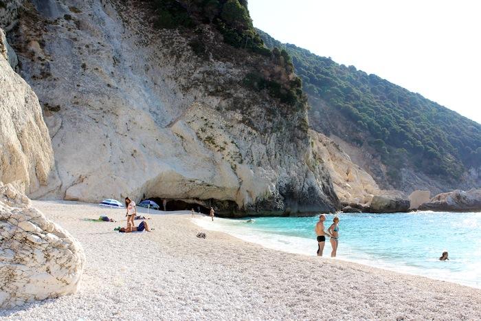 Myrtos beach cave