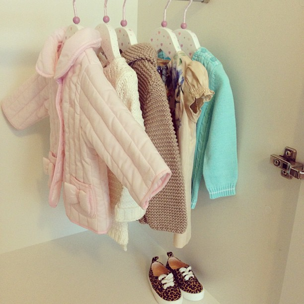 A small part of her wardrobe