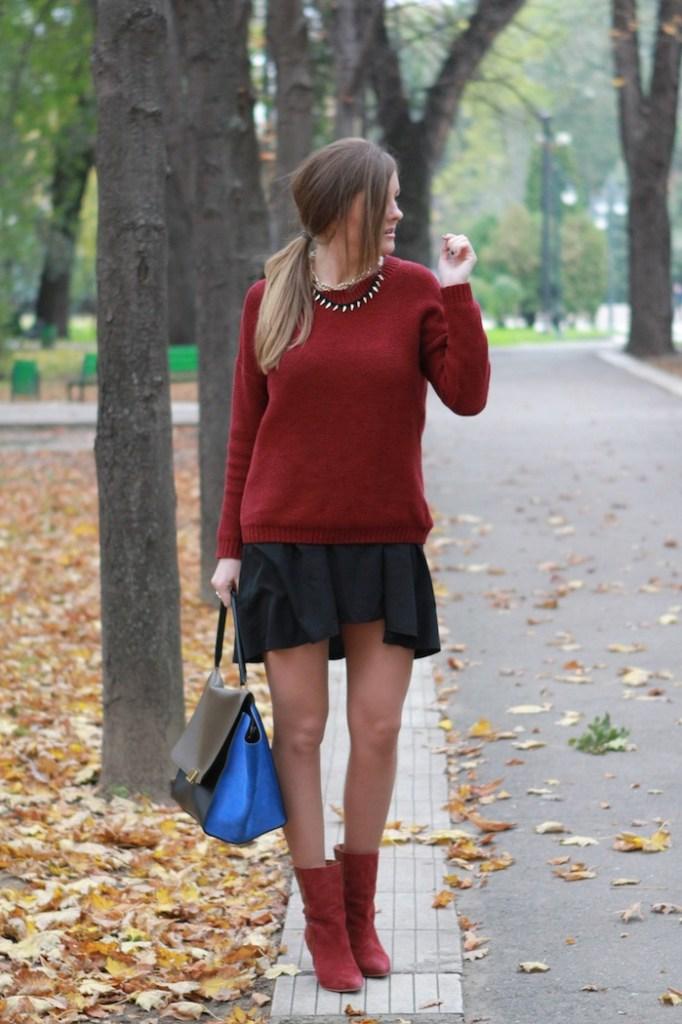 Pulover burgundy