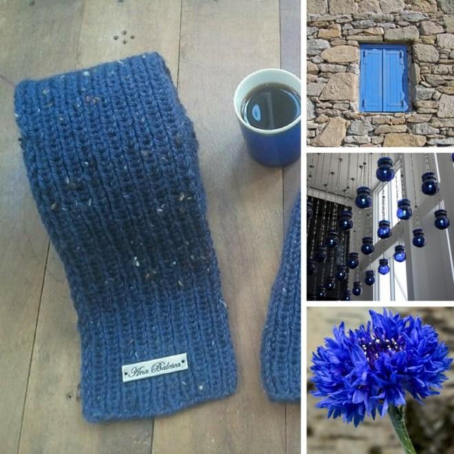cachecol índigo handmade feito a mão artesanato
