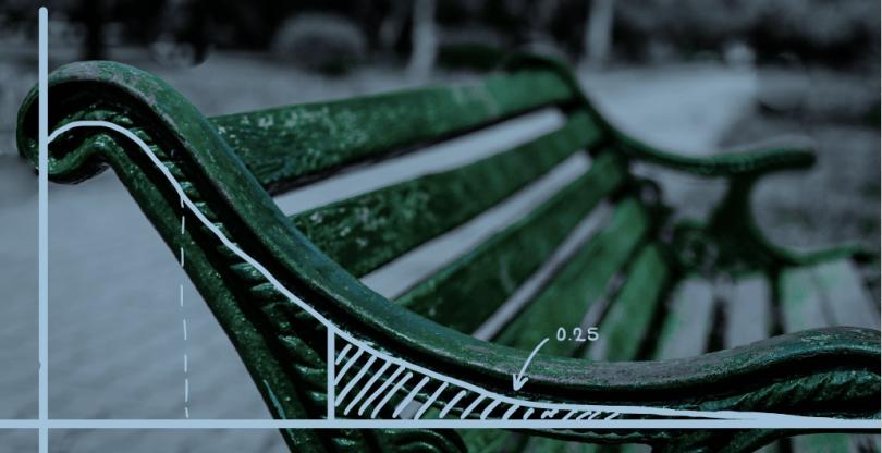 Banco de un parque mostrando una normal truncada