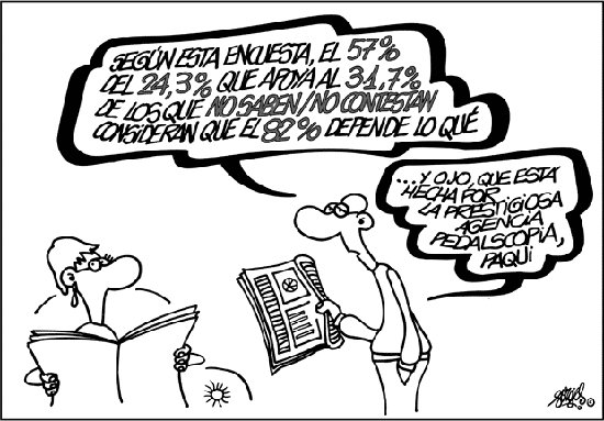 Viñeta de Forges sobre Estadística
