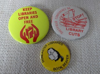 Library campaign badges 1980s