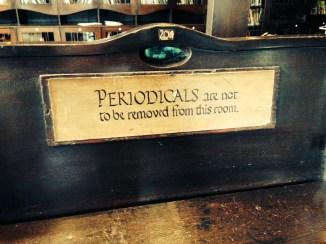 Periodicals stand