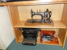 Sewing machine display