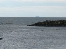 Ailsa Craig in the background