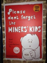 1980s Miners' Strike poster