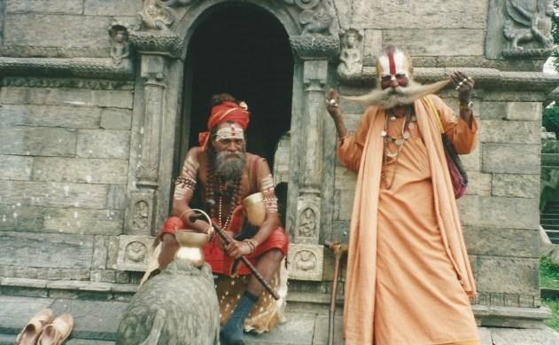 Holy men at Pashupatinath