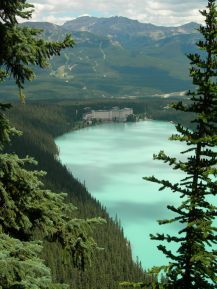 View down to Lake Louise