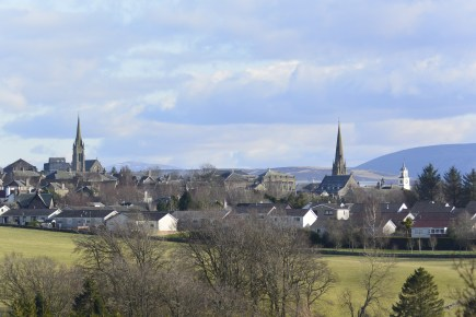 Lanark from Cartland Crags