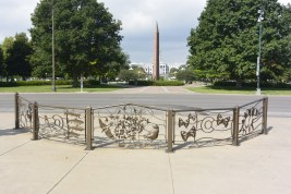 Ornate railings and Civic Center Park