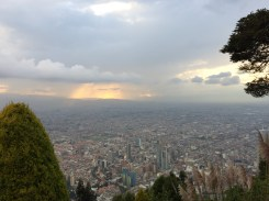 Wow! What a view of the enormous city of Bogota