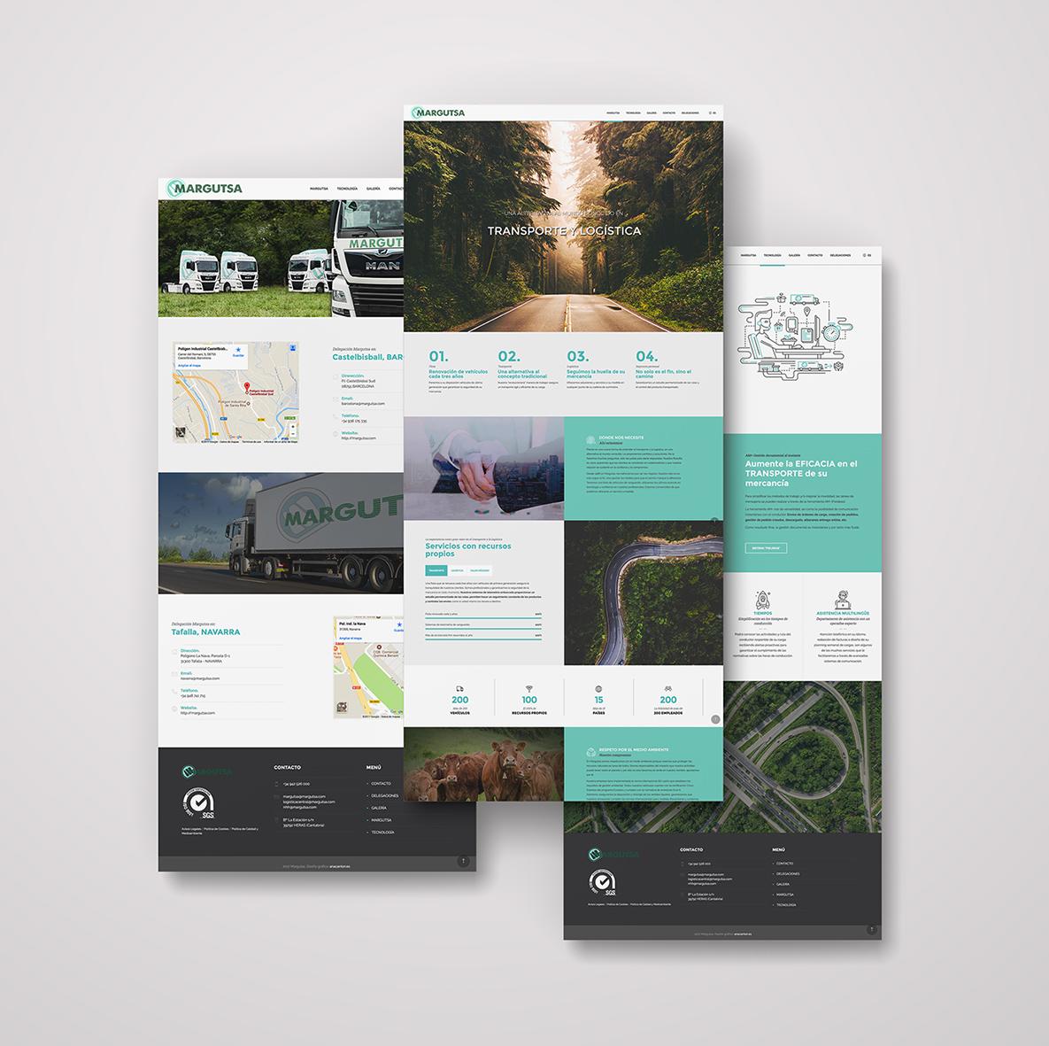 Diseño página web Transportes Margutsa