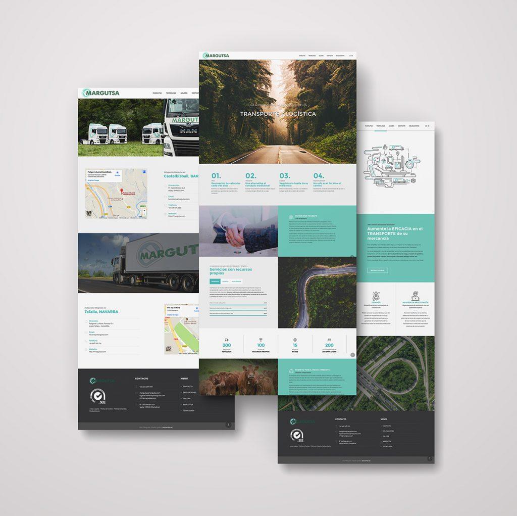 diseño web santander margutsa