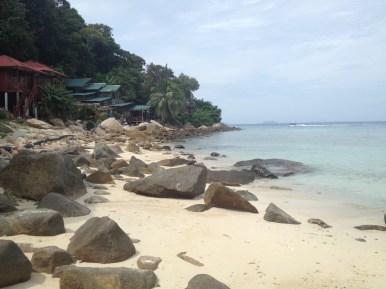 Perhentian Kecil, nasza plaża