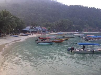 łódki czekają na klientów