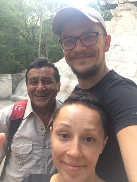 El Mirador - with our fantastic guide Hugo