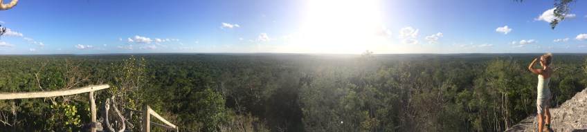view from La Danta - the biggest pyramid in the world