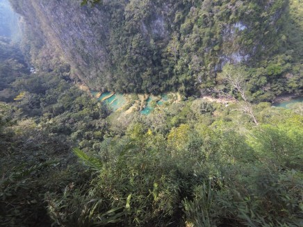semuc champey from the top