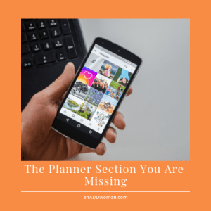 an add woman missing planner section