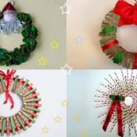 Christmas Decorations - 4 Christmas Wreaths