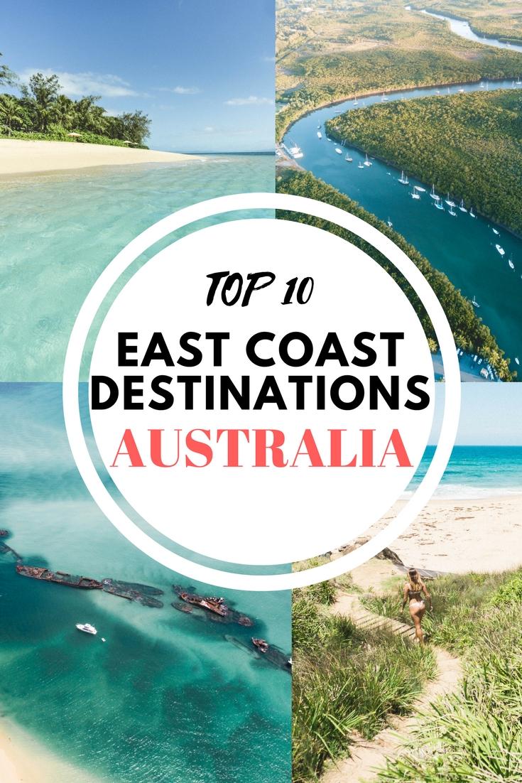 Top 10 East Coast Destinations - Australia