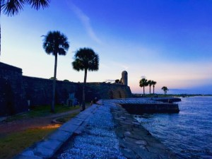 Sunset at the Castillo de San Marcos National Monument
