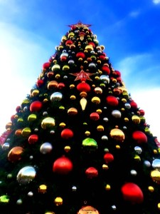 Christmas tree at Universal